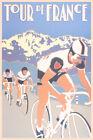 Tour De France Vintage Bicycle Racing Sports Poster