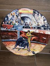 Plato Torero (bullfighter) 34 cm Diámetro. Pintado A Mano Talavera