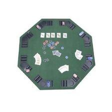 Green Felt Poker Blackjack Table Top Folding Hexagon Drink Holder 8 Player Game