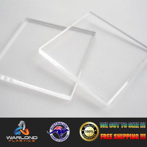 CLEAR ACRYLIC (3mm THICK) SHEET - PANELS - SELECT SIZE  - FREE TRACKED SHIPPING!