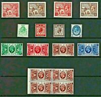 GB George V COMMEMORATIVE Stamp COLLECTION inc 24 & 25 Wembley ALL UM Ref:QV557