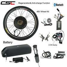 E Bike Conversion Kit 48V 1500W Electric Mountain Bike 700C Charger With Battery