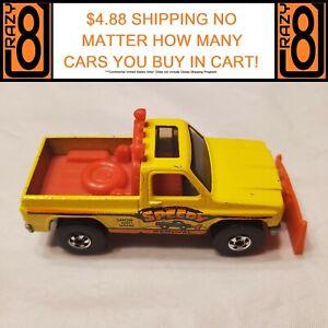 "Hot Wheels Blackwall 1980 Super Scraper Yellow ""Speedy Removal"" Hong Kong EX"