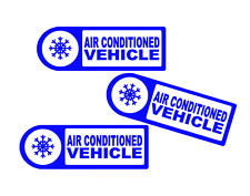 3 x AIR CONDITIONED VEHICLE STICKER DECALS                           (s264)