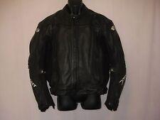 Men's JOE ROCKET Black Leather Motorcycle Jacket Size 42, Full Zip