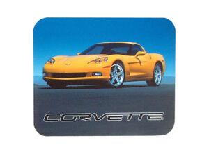 """Corvette C6 Mousepad 8""""x9"""" Yellow Corvette"""
