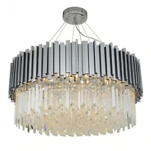 Modern Silver / Gold Crystal Chandelier Lighting Fixture Luxury Chandelier Light