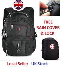 "17"" Swissgear Men Travel Bag Laptop Hike Backpack SA8112 Free Lock & Rain Cover"
