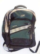 L.L. Bean Large Back Pack, Many Pockets, Green & Black