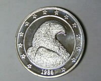 1986 Bald Eagle 1 oz .999 Fine Silver Round International Trade Unit (2-320)