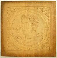 Jules César Caius Iulius Caesar Figural in the Ancient Carved Wooden Panel 30cm
