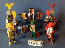 (L164.2) playmobil Set chevaliers chromés ref 3265 année 76 ref 3291 3374 3372