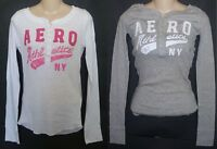 Womens AEROPOSTALE Long Sleeve Aero Athletics Henley NWT #3164