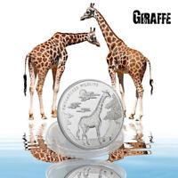 WR 2017 Endangered Wildlife Series Congo10 Franc Giraffe Silver Coin Collectible