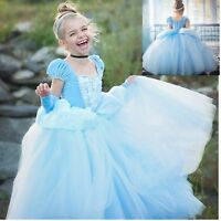 Kids Toddler Girls Cinderella Princess Fancy Dress Cosplay Costume Party Gown