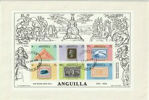 ANGUILLA 1979 ROWLAND HILL CENTENARY S/S ILLUSTRATED UNADDRESSED FIRST DAY COVER