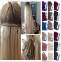 Brazilian 7A Tape In 100% Remy Human Hair Extensions Real Thick PU Hair 20pcs