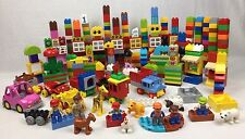 Huge Lego Duplo Lot, Pounds-Blocks, Figures, Animals, Specialty Pieces, ZOO,Cars