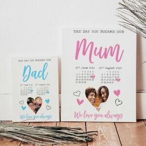 Fathers Day Mothers Day Print Personalised Present Dad Daddy Mum Mummy