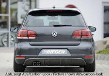 Rieger Heckeinsatz für original Doppelendrohr links für VW Golf 6 GTD/ Cabrio