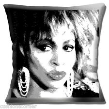 "VINTAGE RETRO TINA TURNER SINGER DANCER ACTRESS SKETCH 16"" Pillow Cushion Cover"