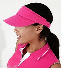 Unisex Beechfield Adjustable Sports Tennis Cotton Twill Sun Visor Hat BB41
