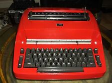 IBM Antique  Selectric I  Re-Furbished Red Vintage 1960s Typewriter