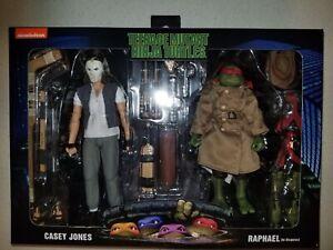Tmnt Neca Teenage Mutant Ninja Turtles Casey Jones & Raphael in Disguise 2 Pack