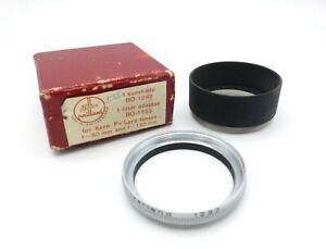 Bolex 1292 Sunshade & 1293 Filter Adapter for Kern-Paillard Lenses f=50 & 150mm