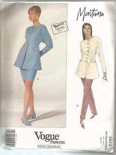Vogue Designer Sewing Pattern 2622, Montana, Jacket, Skirt & Pants, Size 6 - 10