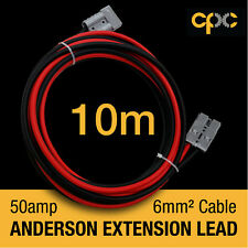 10m 50A AMP ANDERSON PLUG style Extension cable Battery 4x4 4WD CARAVAN SOLAR 12