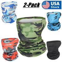 2Pack Balaclava Face Cover Scarf Neck Gaiter Fishing Shield Sun Multi-use Head