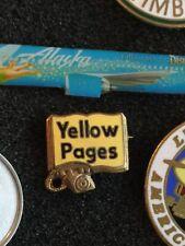 Vintage Yellow Pages Logo Emblem Advertising Pinback Pin