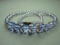 Vintage Rare Bi Color Pink Purple Faceted Glass Bead Necklace