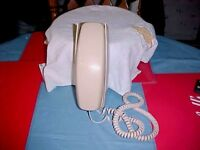 Vintage Western Electric Trim Line Phone Wall Mount Rotary Dial Tan  1/73