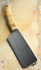 J3 Custom Razors Hand Made Kamisori (8/8 Straight Edge with Aged Rattan)