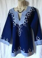 "Tunic Top Plus Size 2 X  Blouse Top  Bust Size 48"" Round V Neck 3/4 Sleeves New"