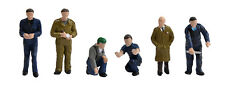 Factory Workers & Foreman (x6) - Bachmann 36-403 - OO painted figures - F1