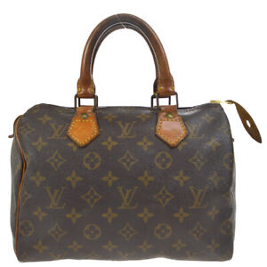 LOUIS VUITTON SPEEDY 25 HAND BAG PURSE MONOGRAM CANVAS M41528 dg 37484