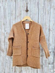 Braintree Wool Cardigan In Brown - Size: XS / Was Selling At Anthropologie