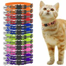 12 PCS Small Cat Breakaway Collar Puppy Pet Kitten Collar Nylon Release Buckle