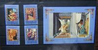 Grenada Grenadines 1985 Christmas Religious Paintings set & Miniature Sheet Used