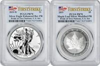 2019 Pride of Two Nations Silver Eagle Maple Leaf PR70 PCGS First Strike US Set
