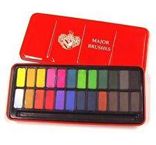 Major Brushes Watercolour Block Tin Set of 24 Colours - Z1003