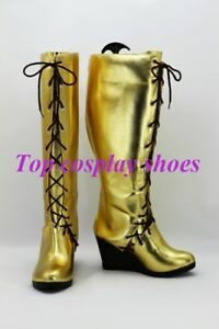 Vocaloid Diva Megurine Luka Wedge Cosplay Boots Shoes
