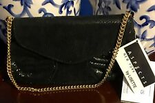 ASPECTS, NY by LISETTE Black Suede Handbag/Clutch/Purse NEW MSRP $165 VINTAGE