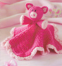 CUTE Pig Security Blanket/ Baby/Kids/Crochet Pattern INSTRUCTIONS ONLY
