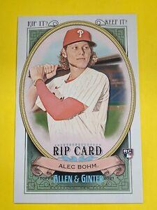 2021 Allen & Ginter Triple Rip Card Alec Bohm UNRIPPED /99