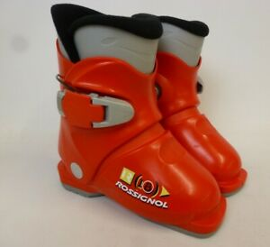 Rossignol Kids Red Ski Boots Size 17.5 UK Size 10 Juniors