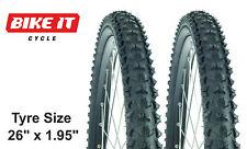 """COPPIA di risparmiare ciclo Pneumatici 26 """"x 1,95 - MTB Mountain Bike Blocco pedata Hybrid"""